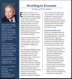 Deciding to evacuate